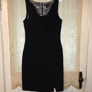 WHBM black fitted dress size 10